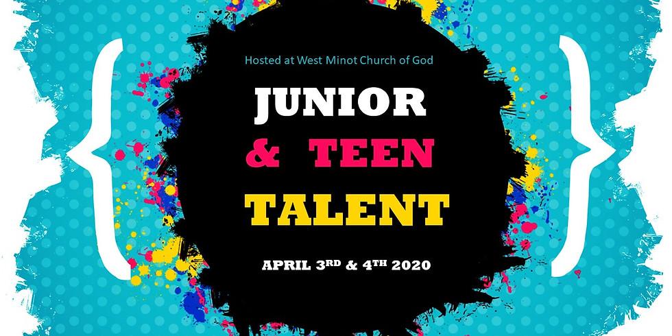 Junior & Teen Talent April 3rd & 4th 2020