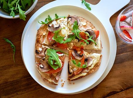 Pizza rápida com Pita Bread Integral