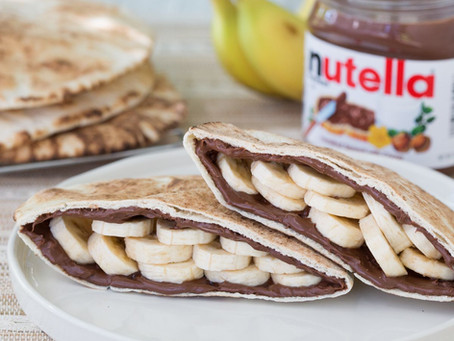 Sanduíche de Banana com Creme de Avelã