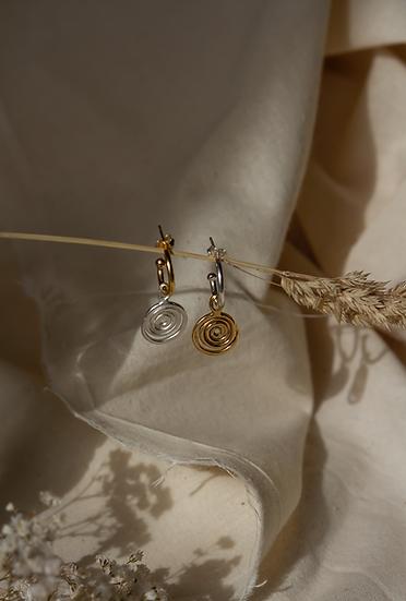 The Spiral Hoops Earrings