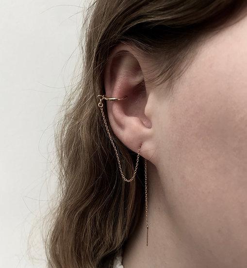 Ear Thread + wire Ear Cuff