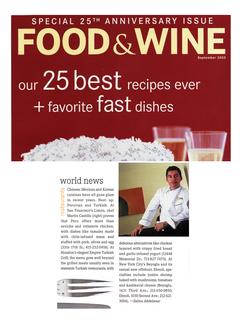 Food & Wine magazine feature