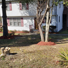 red mulch, spring cleaning, landscaping,