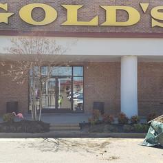 golds gym, hardscaps, landscape, contrac