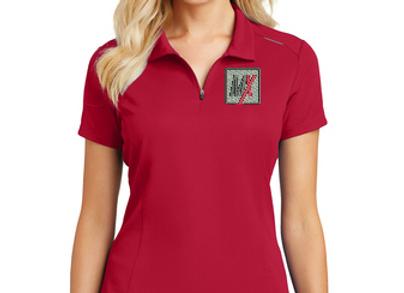Port Authority® Ladies Pinpoint Mesh Zip Polo