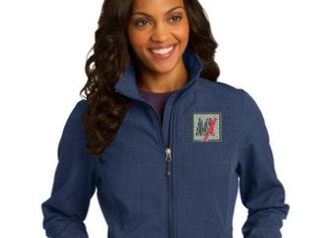 Eddie Bauer® Ladies Shaded Crosshatch Soft Shell Jacket