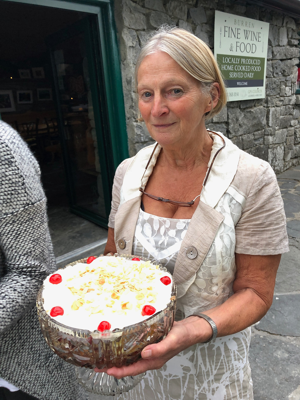"Cathleen with ""Granny's Trifle"""