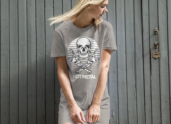 Hot Metal Skull Rock WT Organic cotton t-shirt dress