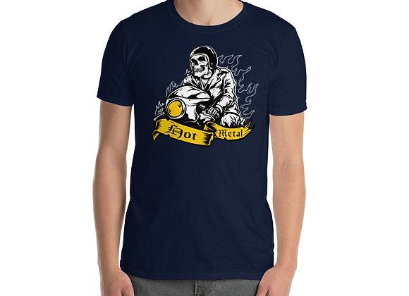Hot Metal Skull Racer Short-Sleeve Unisex T-Shirt
