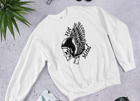 Hot Metal Wing Skull BT Unisex Sweatshirt