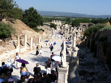 The ruins of the main street at Ephesus.