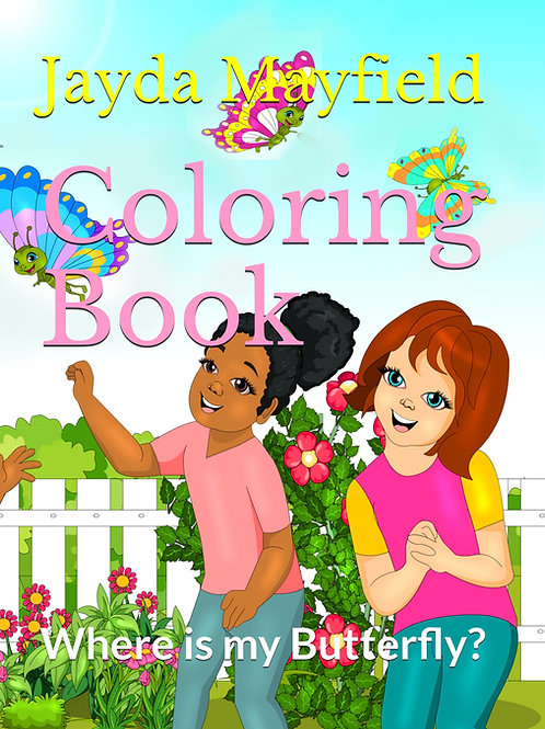 Coloring Book- Where is my Butterfly?