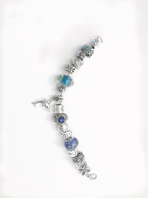 Silver Jade Bracelet