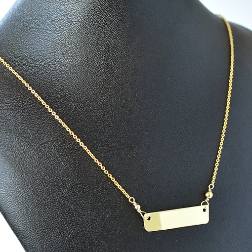 Trumpet Bar Necklace