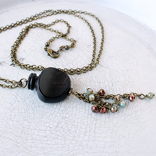 Violin/ Viola Turning Peg Necklace with Bead Cascade