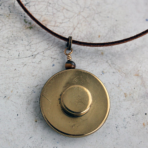 Unisex French Horn Rotary Valve Cap Necklace