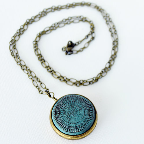 French Horn Valve Cap & Clay Necklace