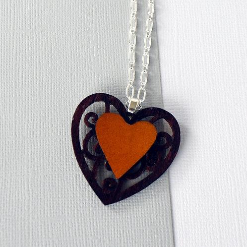Long Cello Heart Necklace