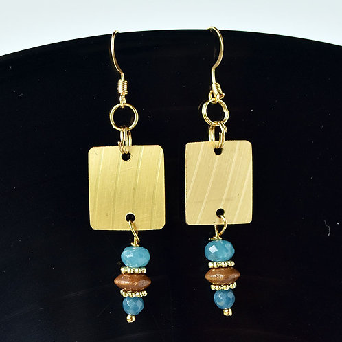 Beaded Drum Cymbal Earrings