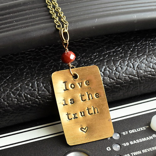 Jack White - Love is the Truth Drum Cymbal Necklace