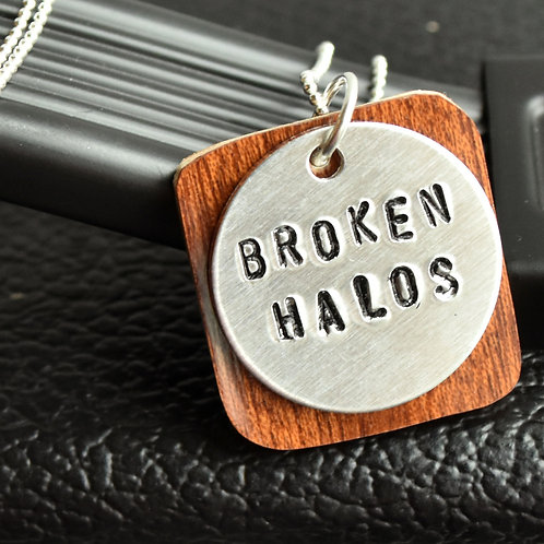 Chris Stapleton - Broken Halos Guitar Wood Necklace