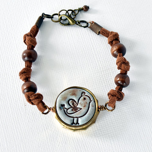 Bird is the Word Trumpet Valve Cap Bracelet