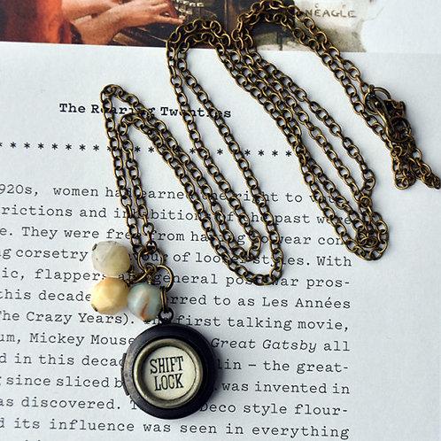 Royal Typewriter Key Locket Necklace