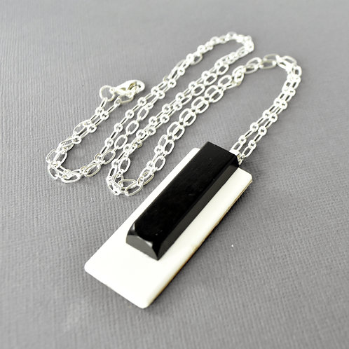 Long Piano Key Necklace
