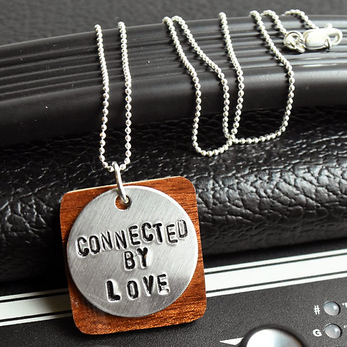 Jack White - Connected by Love Guitar Wood Necklace