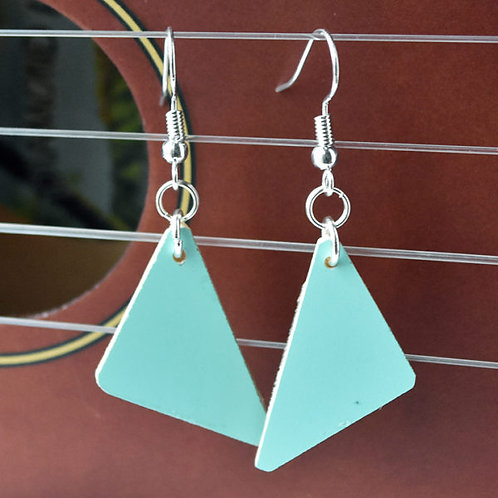 Triangle Ukulele Wood Earrings