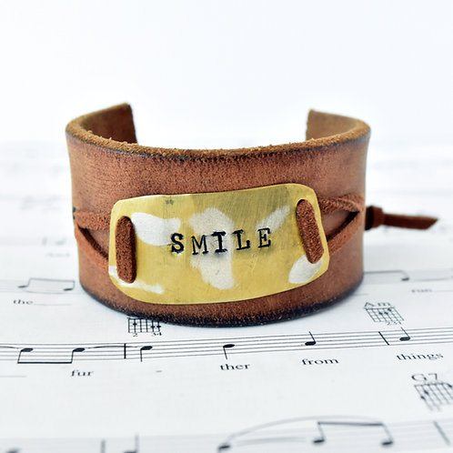 Smile - Trombone Metal Cuff Bracelet