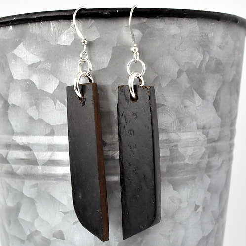 Black Piano Key Earrings