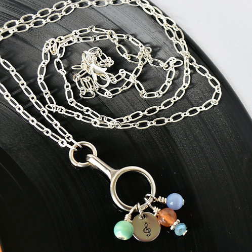 Open Clarinet Key Convertible Charm Necklace (long)