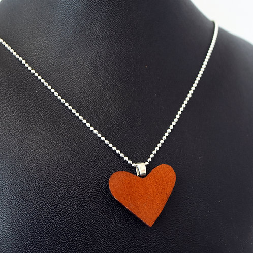 Cello Wood Heart Necklace