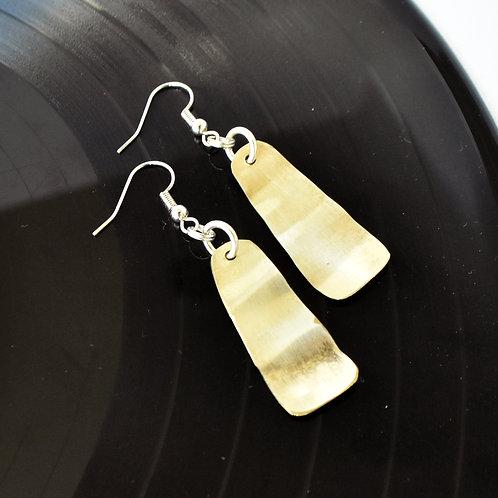 Wavy Trombone Metal Earrings