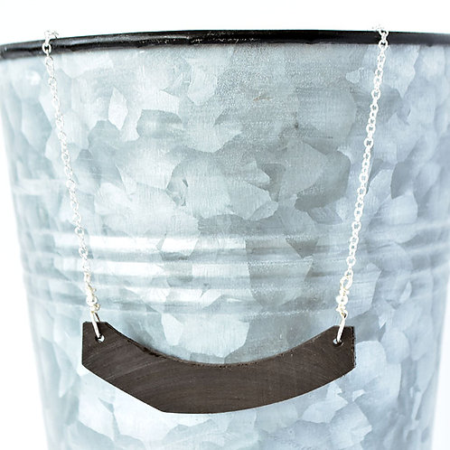 Upright Bass Bar Necklace, Silver (large)