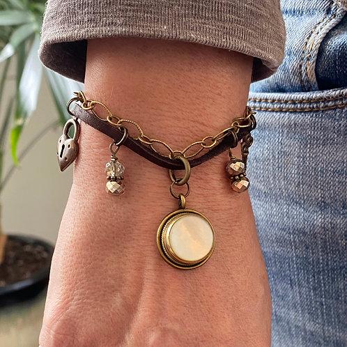 Trumpet Finger Button Charm Bracelet