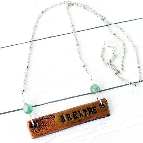 """""""Breathe"""" Clay Necklace"""