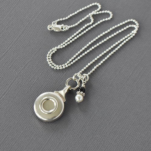 Flute Key Necklace with Bead Accent
