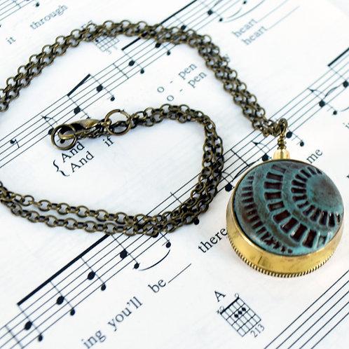 Trumpet Valve Cap Necklace