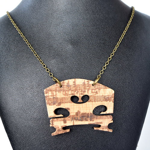 Violin/ Viola Bridge Necklace