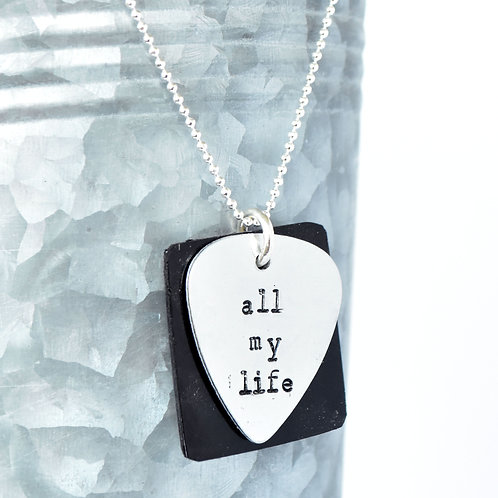 Foo Fighters - All My Life Acoustic Guitar Wood Necklace