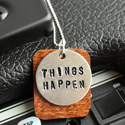 Dawes - Things Happen Guitar Wood Necklace