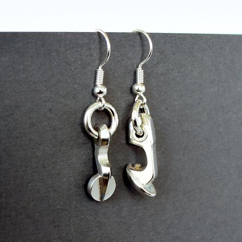 Mismatched Oboe Key Earrings