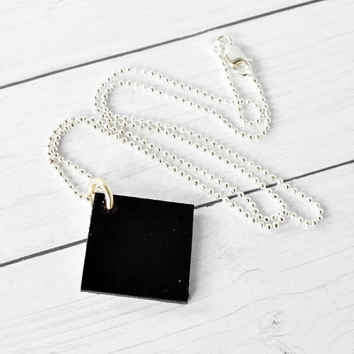 Diamond Shaped Guitar Wood Necklace