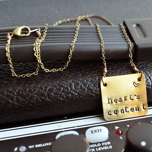 Brandi Carlile – Heart's Content Stamped Drum Cymbal Necklace