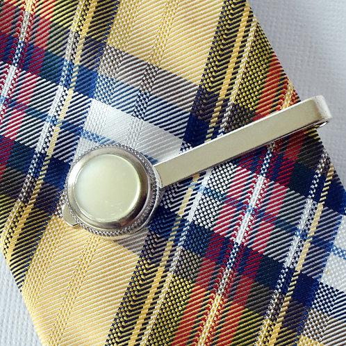 Trumpet Finger Button Tie Clip