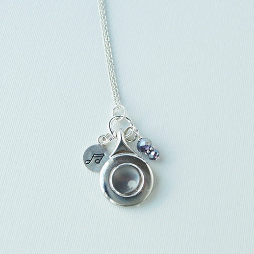 Flute Key Charm Necklace