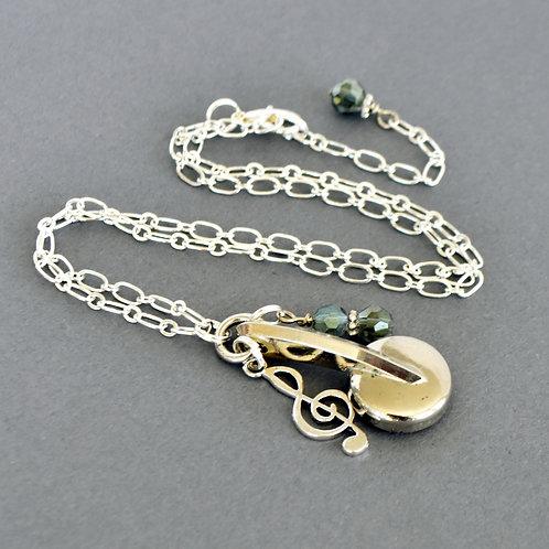 Saxophone Key Charm Necklace