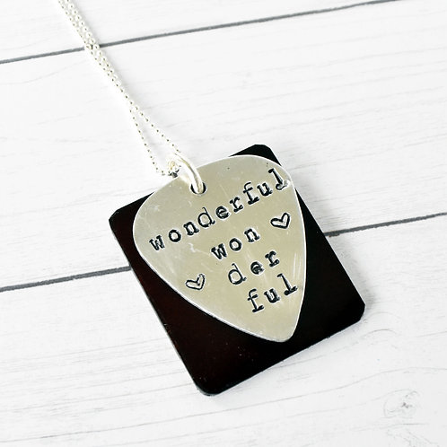 The Killers - Wonderful Wonderful Acoustic Guitar Wood Necklace